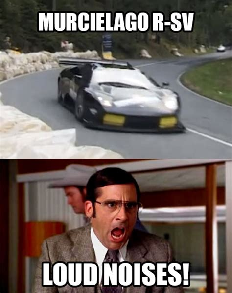 Loud Noises Meme - watch this lamborghini climb a hill and tear apart your