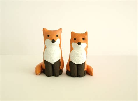 Snowman Decorations For The Home by Follow My Passion Fox Wedding Cake Topper Clay Animal