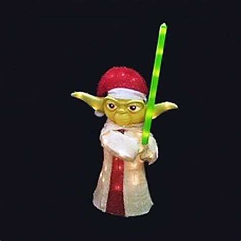 star wars christmas yoda light up display