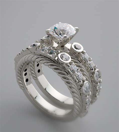 Unique engagement ring set unique engagement wedding ring