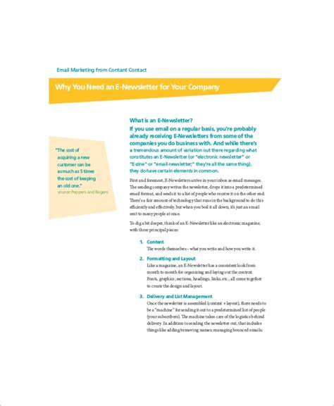 7 Sle Business Newsletters Sle Templates Custom Email Marketing Templates