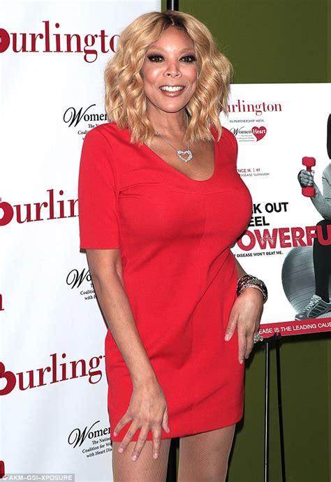 blonde bob red dress wendy williams sizzles in figure hugging short dress at