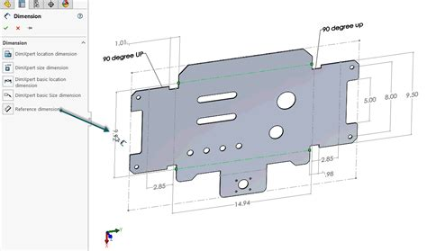 solidworks flat pattern bend notes how to define the mbd data of sheet metal parts