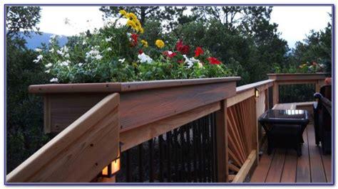 Deck Rail Brackets For Planters by Rail Deck Lighting Led Decks Home Decorating
