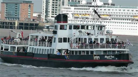 big boat on the mersey mersey ferry royal iris of the mersey youtube