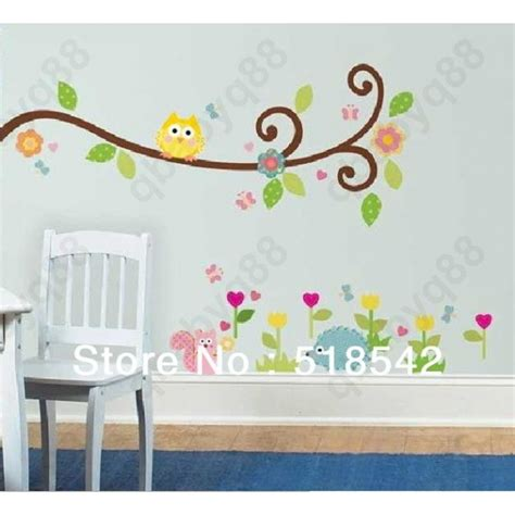 removable nursery wall stickers removable nursery wall decals owls and swirly tree nursery removable wall vinyl decal