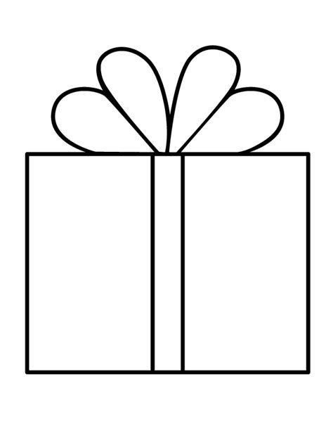 Gift Coloring Page Coloring Pages Gifts Coloring Pages