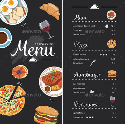 Menu 09 Cake Cantik Ala Cafe restaurant food menu design with chalkboard by kaisorn