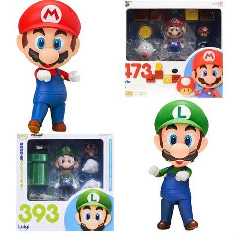 Nendoroid 393 Mario Bros Luigi Include Stand New Mib Kws mario bros mario luigi figures nendoroid mario 473 luigi 393 pvc figure collection