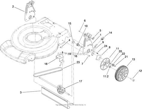 toro mower parts diagram toro 20332 22in recycler lawn mower 2009 sn 290000001