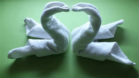 Swan Towel Origami - how to fold a towel swan 6 steps with pictures wikihow