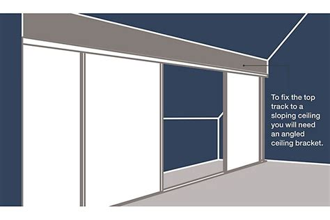 B Q Wardrobe Rail by How To Measure Install Sliding Wardrobe Doors Ideas Advice Diy At B Q