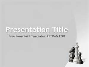 Chess Board Template by Free Chess Powerpoint Template Pptmag