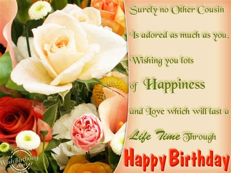 Happy Birthday Wishes To A Cousin Surely No Other Cousin Is Adored As Much As You