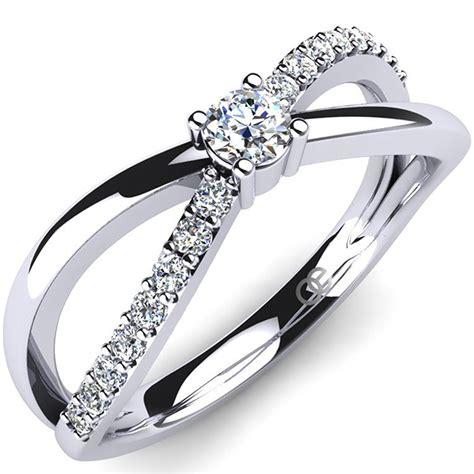 Preiswerte Verlobungsringe by Moncoeur Verlobungsring Silber Swarovski Kristalle