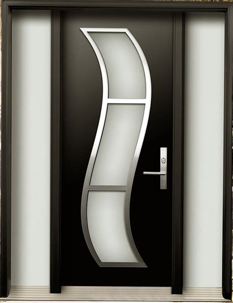 steel door design modern contemporary door modern wood door with stainless steel s design installed in toronto