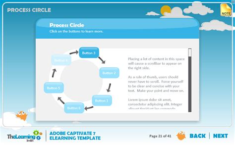 the learning smith captivate 7 elearning template