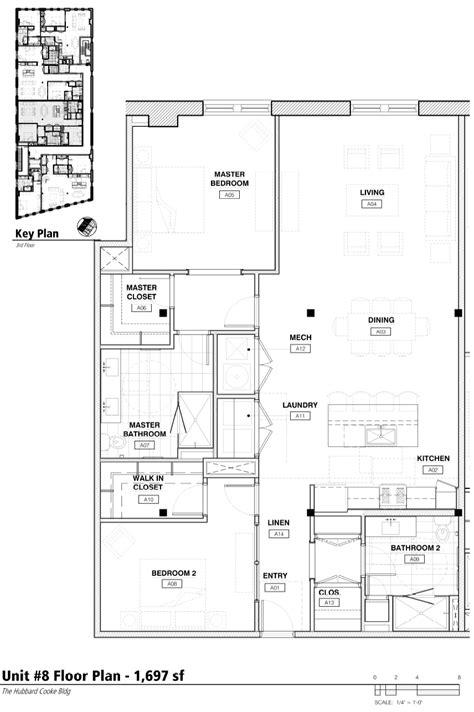 unit floor plan 2 bedroom floor plan hubbard cooke building