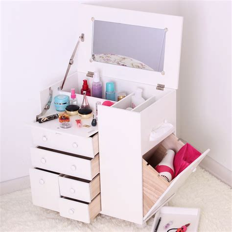 Cosmetic Cabinet by Solid Wood Japanese Style Cosmetic Cabinet Dresser White