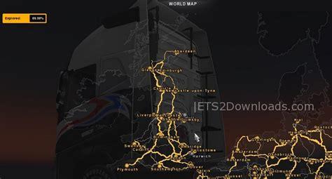 ets2 uk map skm extended uk map v1 6 1 truck simulator 2 spot