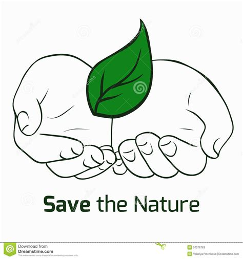 save the nature save the nature stock vector illustration of health