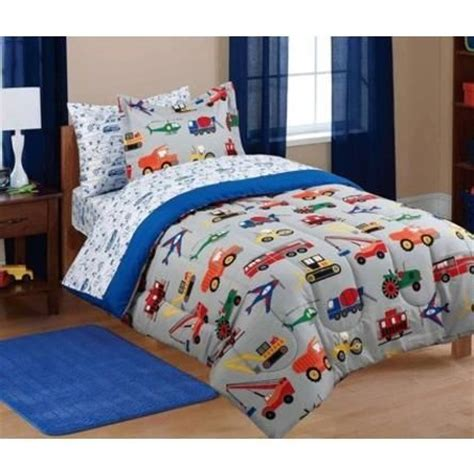 creative comforter sets creative kids firetrucks airplanes dump trucks