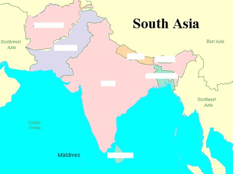 Wedding Flowers Country Style - map of south asia