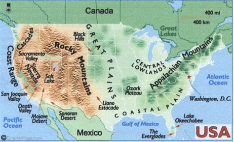 america map landforms windermere library