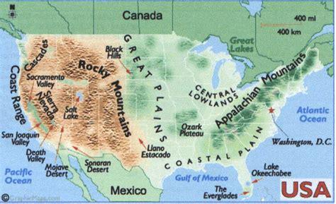 map of the united states landforms image gallery landform map