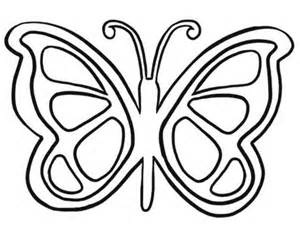 simple butterfly coloring pages get coloring pages