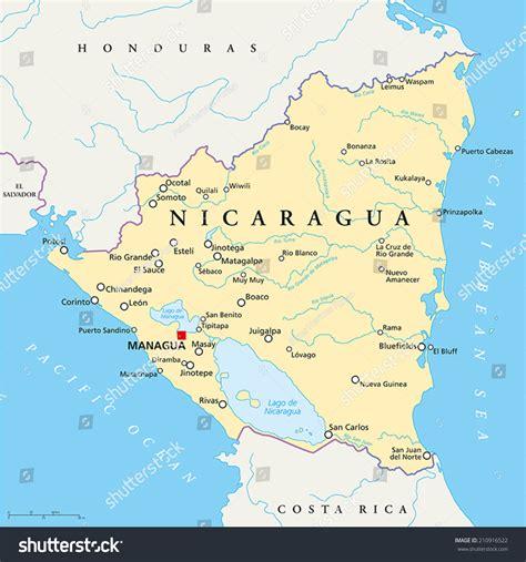 political map of nicaragua nicaragua cities gallery