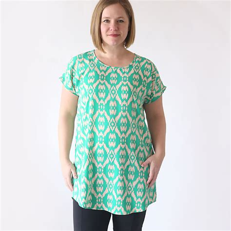 Tunik Ima W Pocket the breezy tunic free sewing pattern it s always autumn