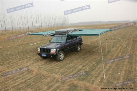 homemade 4wd awning car awning 4wd 4x4 vehicle cing side roof rack canvass