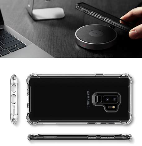 Spigen Galaxy S9 Rugged Clear Tpu Soft Clear Anti etui spigen rugged galaxy s9 plus clear 4kom pl