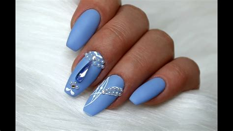 Nail Designs For Medium Nails by Pastel Nails Medium Blue Nail Designs