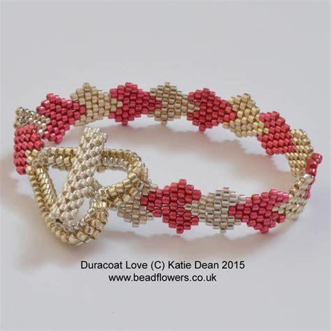 pattern heart bracelet heart bracelet pattern beadflowers by katie dean