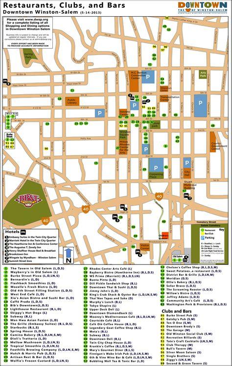 winston salem downtown restaurant map