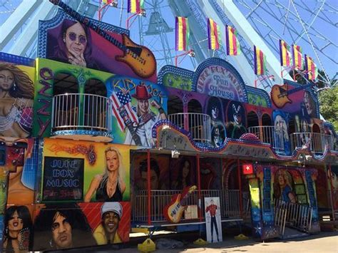 juke house music wheel falls off ride at state fair injures worker