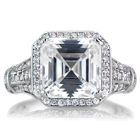 Asscher Cut Engagement Rings by For All Those Vintage Loving Brides Asscher Cut Engagement