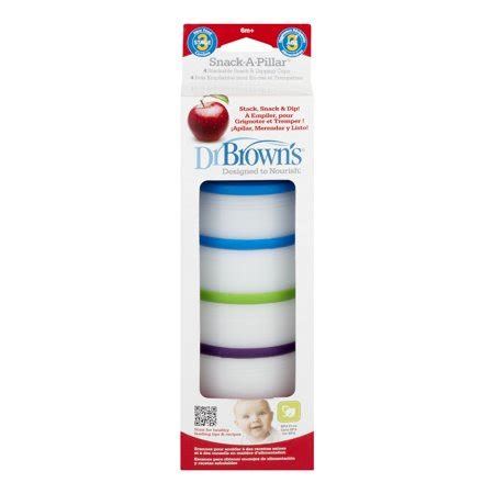 Dr Brown Snack A Pillar by Dr Brown S Snack A Pillar Stackable Snack Dipping Cups