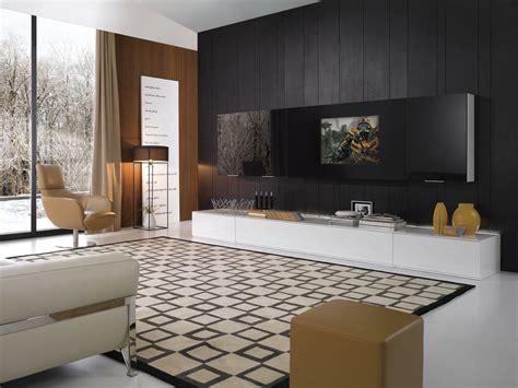 k138 modern black and white entertainment center
