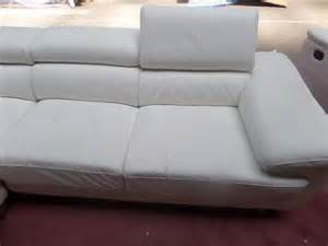 preloved corner sofa white leather for sale in