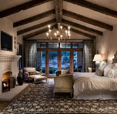of a rustic master bedroom home