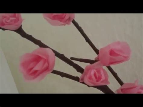 cara membuat bunga sakura dari kertas jagung cara membuat bunga sakura dari kertas krep youtube
