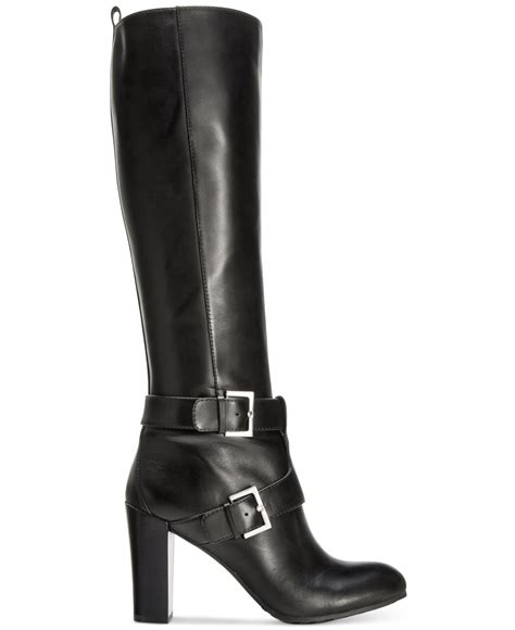 wide dress boots for nine west skylight wide calf dress boots in black