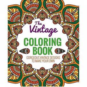 vintage coloring books the vintage coloring book by thunder bay press outer layer