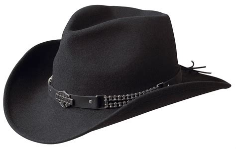 Harley Davidson Hats For Sale by Harley Davidson Chain Band Bend A Brim Wool Felt Crushable