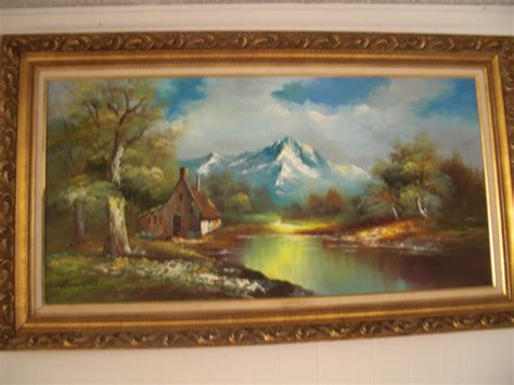 Painting Green 9 G vintage g whitman beautiful landscape painting collectors weekly