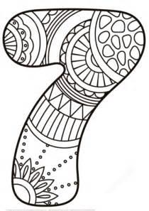 7 Eleven Coloring Page by Dibujo De N 250 Mero 7 Zentangle Para Colorear Dibujos Para