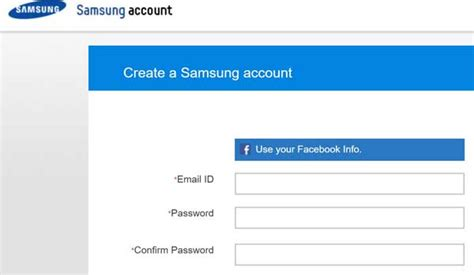create and manage my samsung account